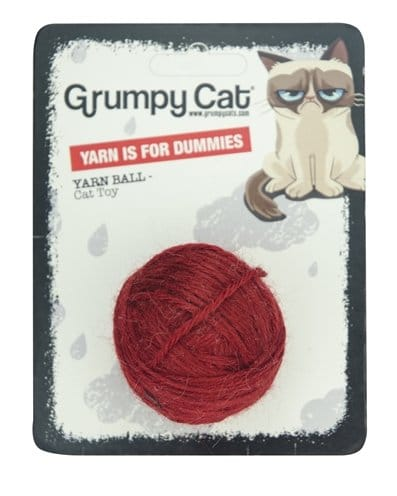 Grumpy Cat Yarn Ball